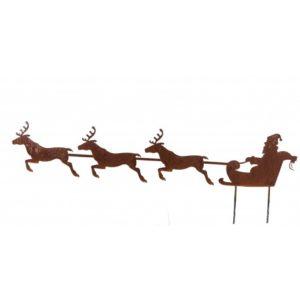 père Noël avec son traineau